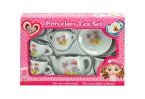 Porcelain Tea Set With Butterfly Print