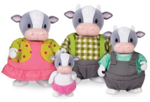 Li'L Woodzeez Cow Family