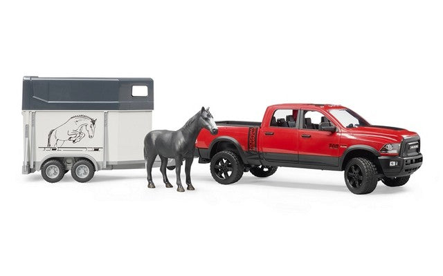 Bruder RAM 2500 Power Wagon Toy With 1 Horse & Trailer