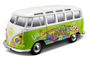 Maisto Die-Cast Model - Hippie Line VW Samba Van Scale 1:25