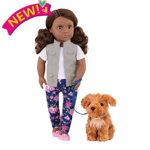 Our Generation Classic 18 inch Doll Malia with Poodle