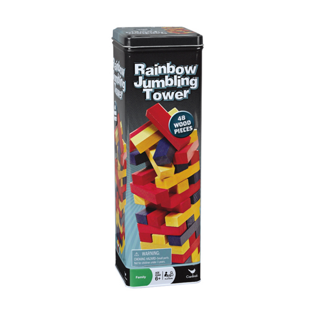 Cardinals Rainbow Jumbling Tower 48 Wooden Pieces