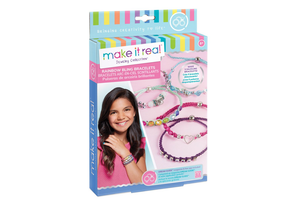 Make It Real Rainbow Bling Bracelets
