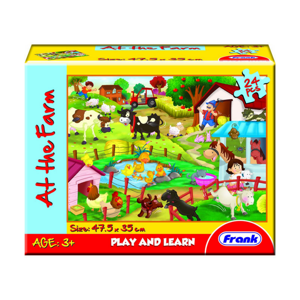 Frank Play & Learn At The Farm Floor Puzzle (24pc)