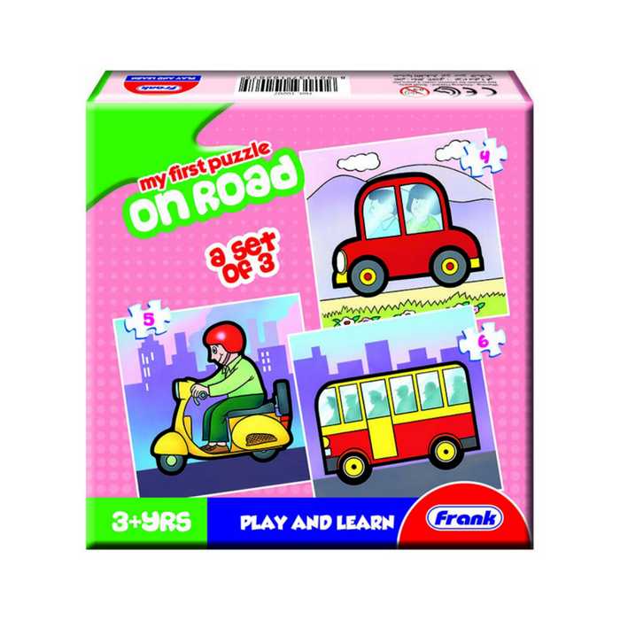 Frank My First Puzzle Roads/ 3 In A Box