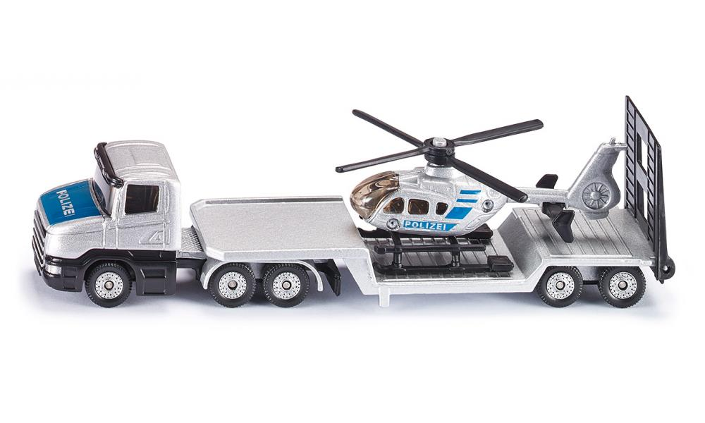Siku Scania Low Loader with Police Helicopter 1:87