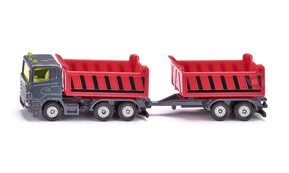 Siku Truck with dumper body and tipping trailer 1:87