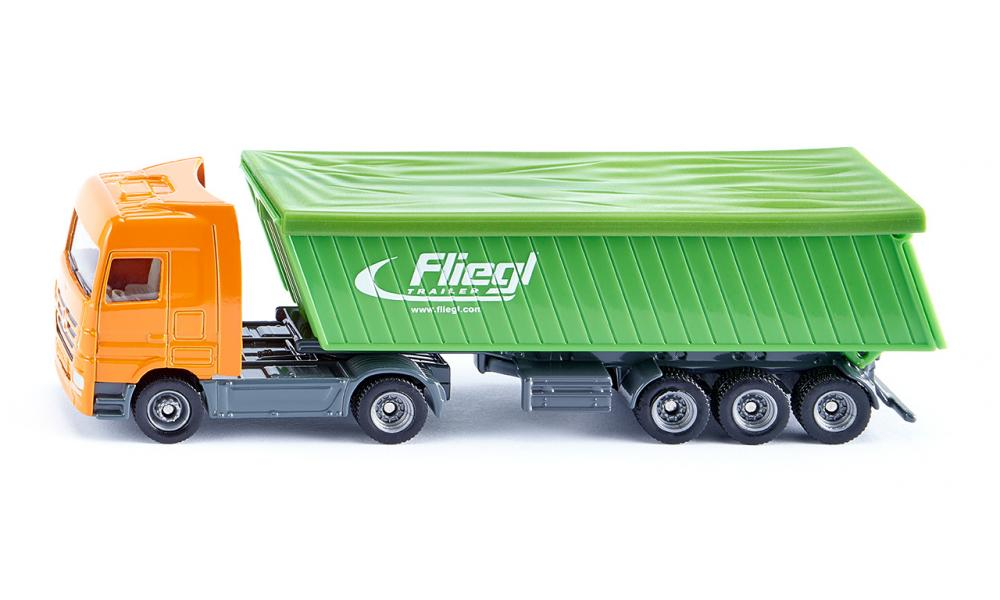 Siku Mercedes-Benz Truck With Fliegl Trailer and Roof 1:87