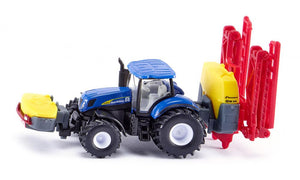 Siku New Holland Tractor with Kverneland Crop Sprayer 1:87
