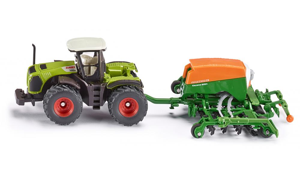 Siku Claas Xerion and Amazone Cayenna 6001 Seeder 1:87