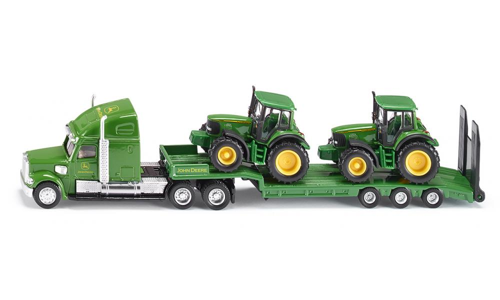 Siku US Low Loader with John Deere Tractors Scale 1:87