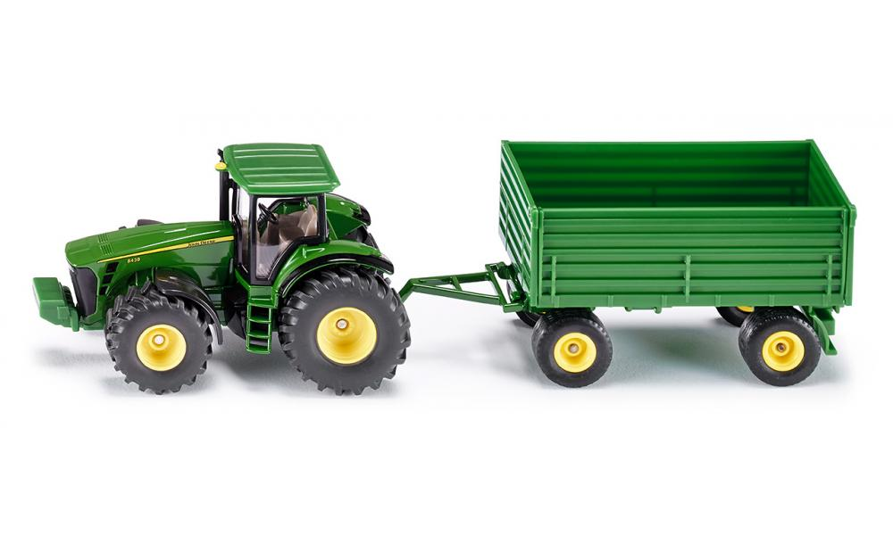 Siku John Deere 8000 series Tractor with Trailer