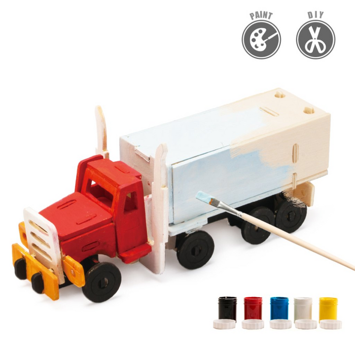 Robotime 3D Wooden Puzzle With Paints Truck