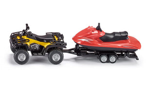 Siku Quad with Trailer and Jet-ski - Scale 1:50