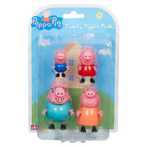Peppa Pig 4 Pack Figures - Peppa Pig Family