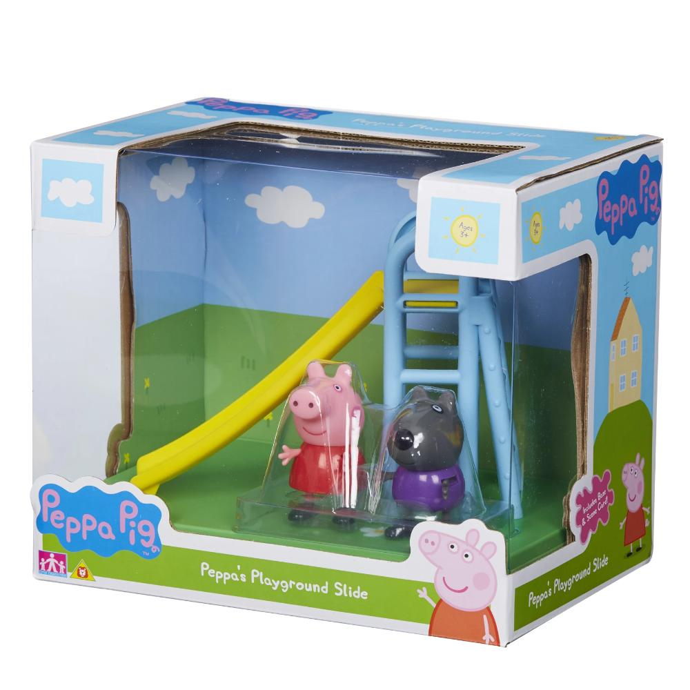 Peppa Pig Scene Backdrop - Playground Slide