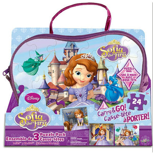 Sofia The First 3 Puzzles In a Bag