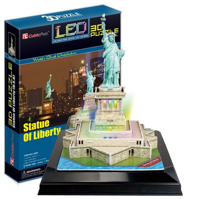CubicFun Statue Of Liberty (USA) 37pc 3D Puzzle With Base & LED Unit