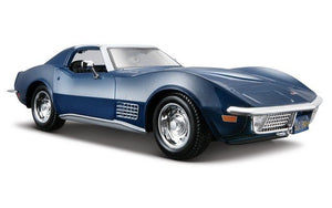 Maisto 1/24 Chevrolet Corvette 1970 Blue
