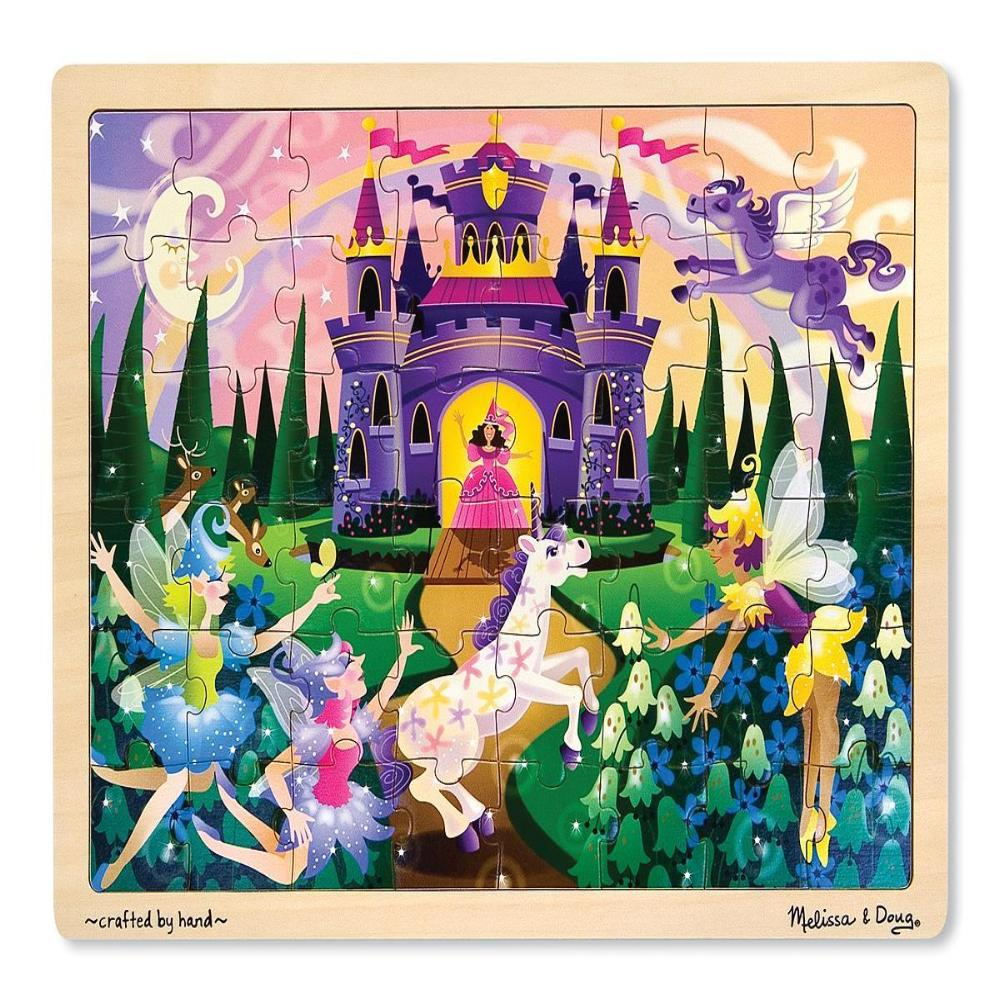 Melissa & Doug Wooden Jigsaw Puzzles - Fairy Fantasy (48 pc)