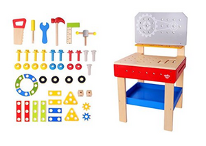 TookyToy Wooden Toy Work Bench