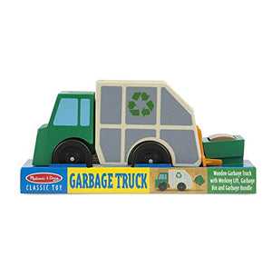 Melissa & Doug Garbage Truck Wooden Vehicle