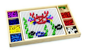 VIGA Ludo & Beads With Patterns