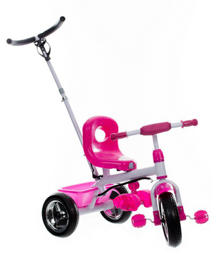 Tricycle With Turning Handle Pink