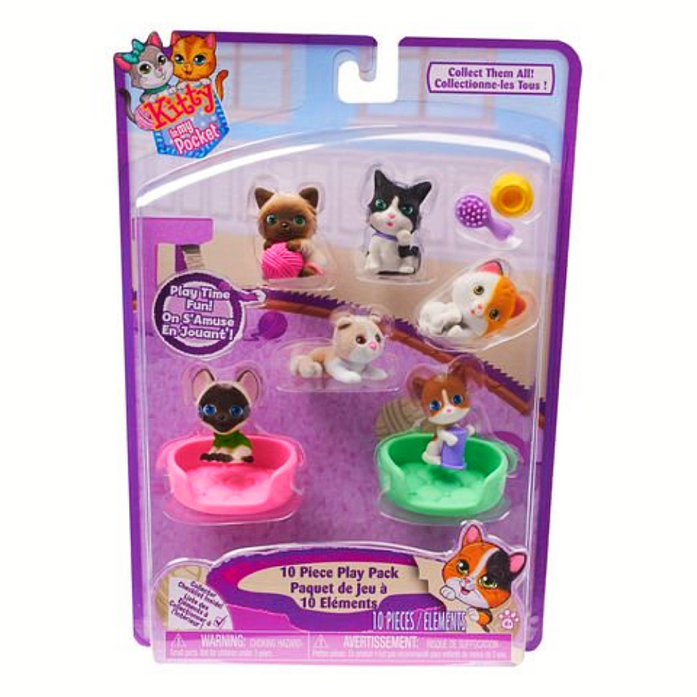 Kitty In My Pocket 10 Piece Set