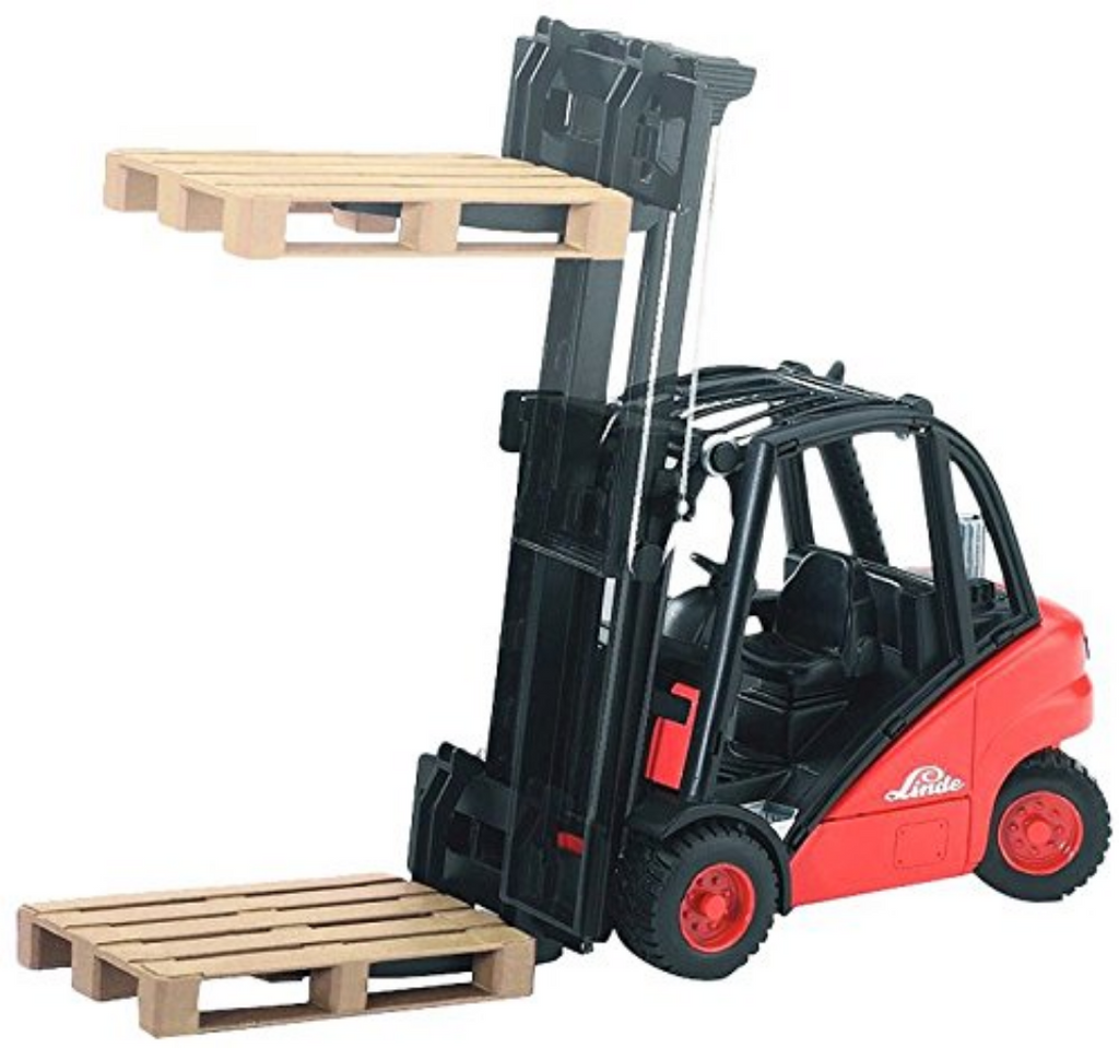 Bruder Linde Forklift H30D With 2 Pallets
