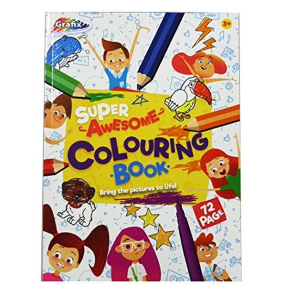 Grafix Super Awesome Colouring Book 72 Sheet
