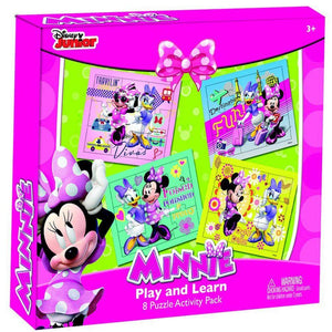 Minnie Play & Learn 8 Puzzles Pack