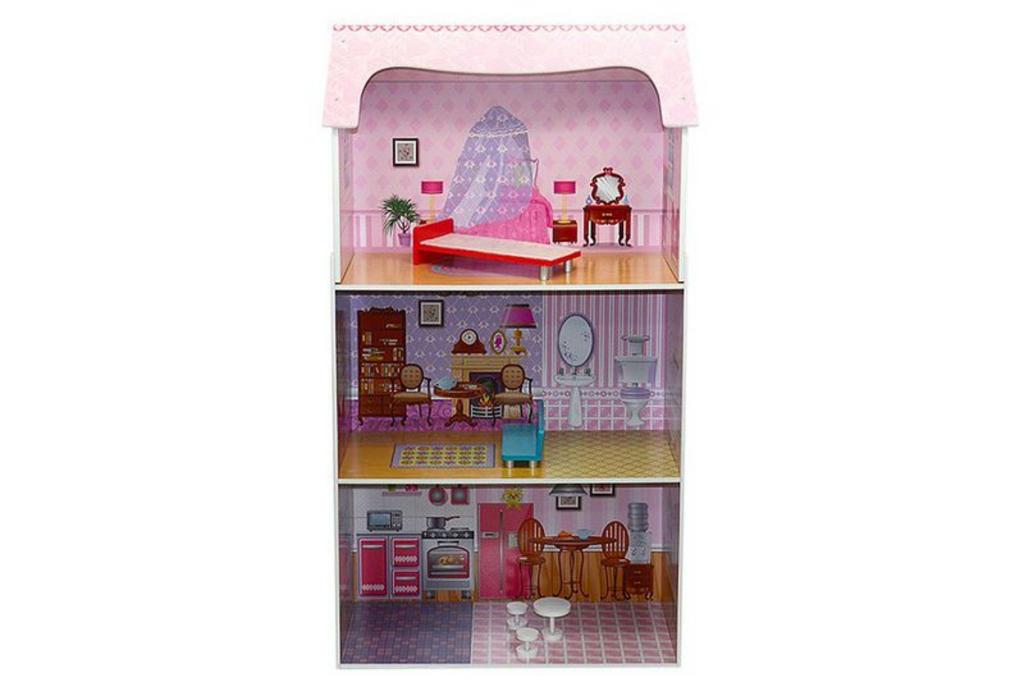 Woodstock 3 Level Pink Doll House