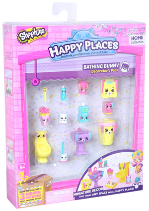 Happy Places SHOPKINS Decorator PK - Bathing Bunny