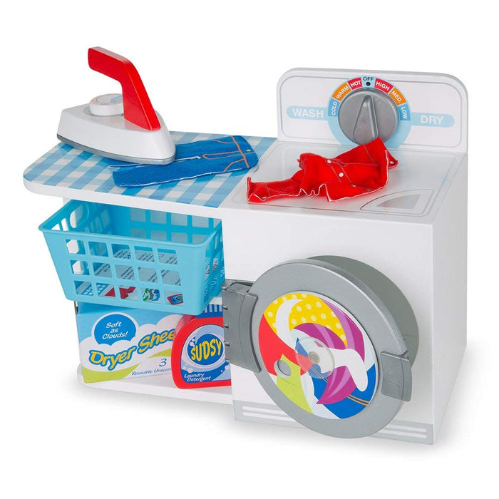 Melissa & Doug Wash, Dry and Iron Play Set