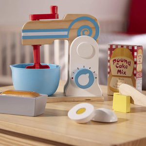 Melissa & Doug Wooden Make-a-Cake Mixer Set - UNBOXED