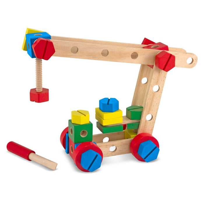 Melissa & Doug Wooden Construction Building Set in a Box