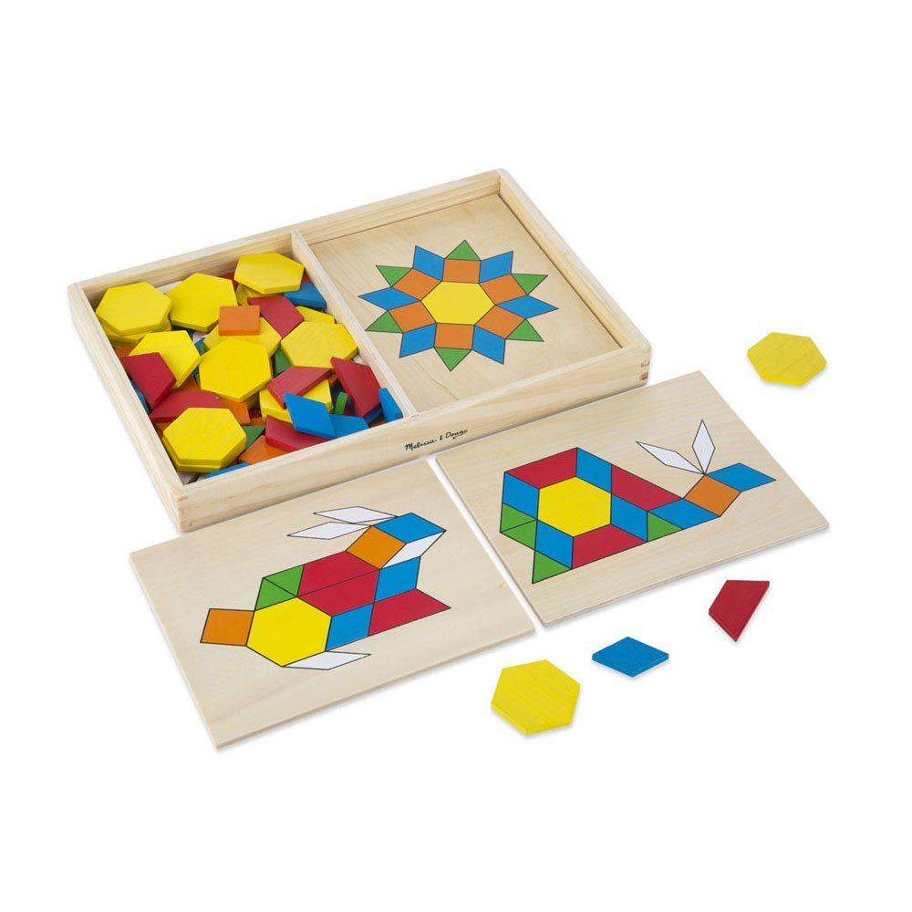 Melissa & Doug Pattern Blocks And Boards