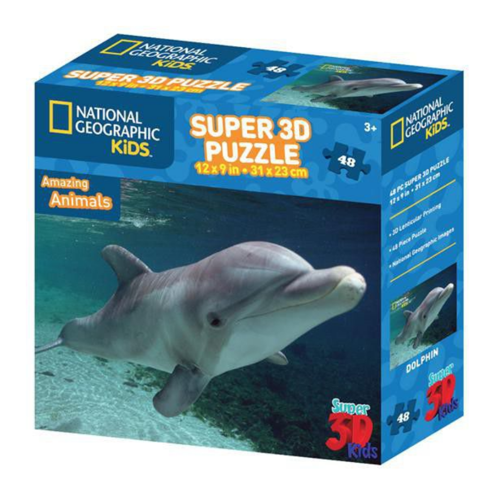 National Geographic Dolphin 3D Puzzle (48PC)