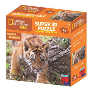 National Geographic Tiger 3D Puzzle (48PC)