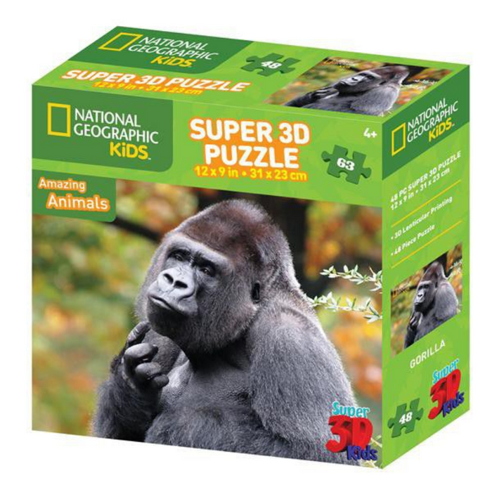 National Geographic Gorilla 3D Puzzle (48PC)