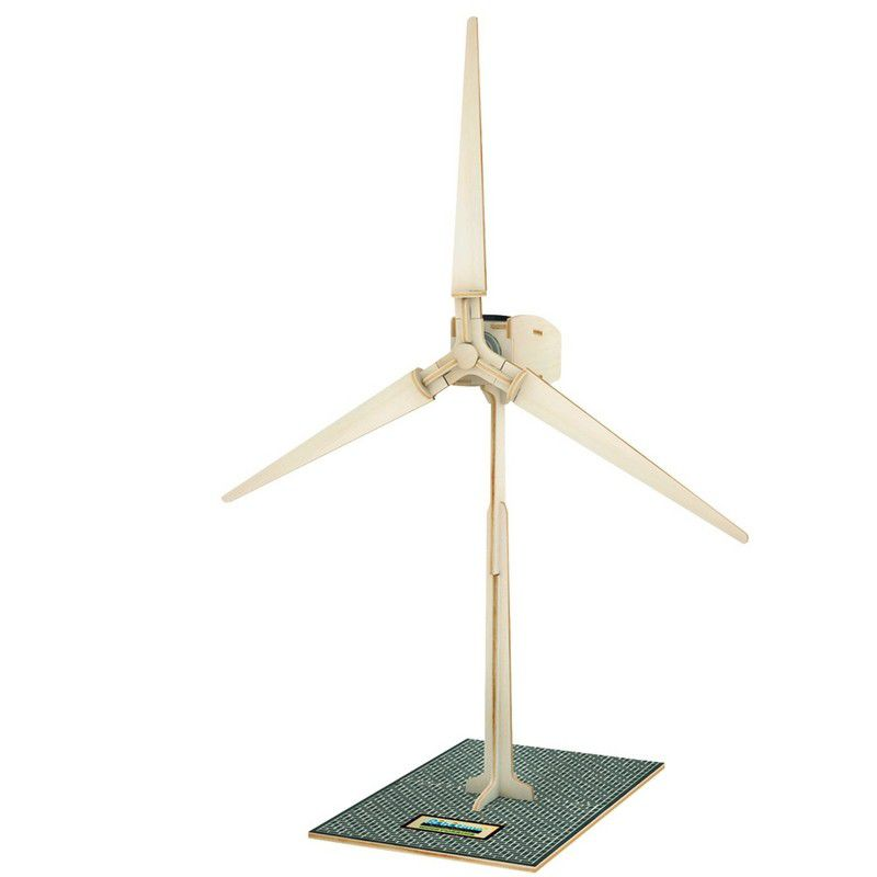 Robotime Solar Powered Wind Turbine - 23 Piece