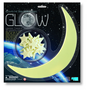 4M Glow In Dark Moon & Stars Kit