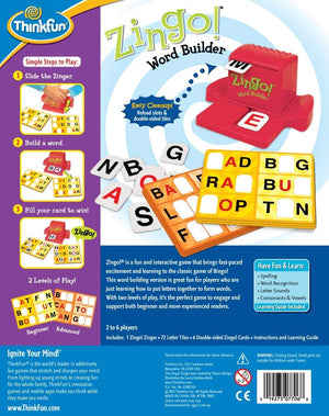 Zingo! Word Builder - ThinkFun Educational Game