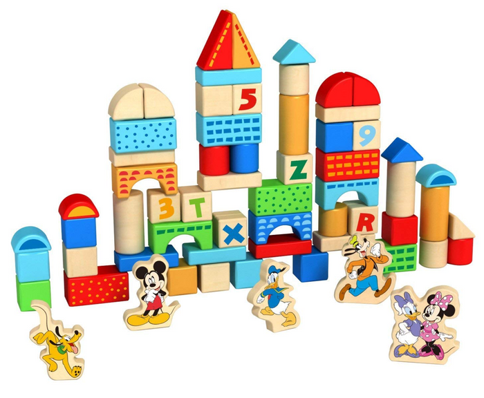Disney Mickey Mouse Wooden Blocks (100 PCE)
