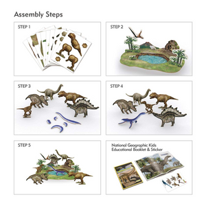 National Geographic Dino Park 3D Puzzle (43pc)