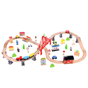 TookyToy Train Set 70 PCS