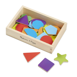 Melissa & Doug Magnetic Wooden Shapes 'n Colours