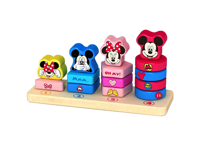 Disney Mickey & Minnie Wooden Counting Stacker