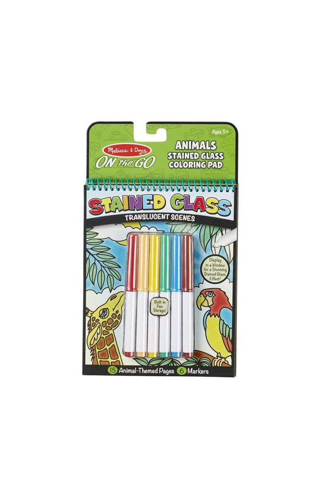 Melissa & Doug On - The - Go Stained Glass Animal Colouring Pad